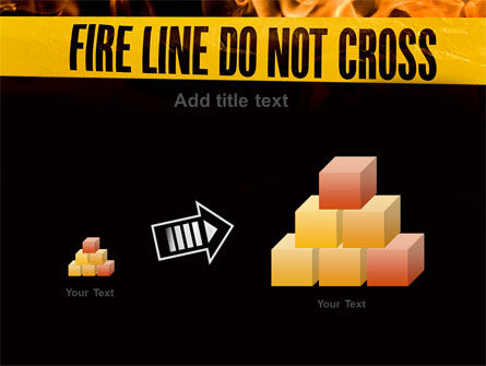Fire Line PowerPoint Template Slide 13
