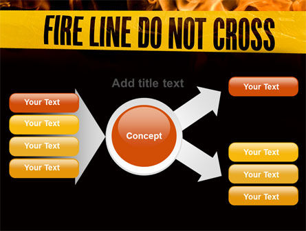 Fire Line PowerPoint Template Slide 15