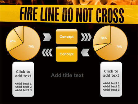 Fire Line PowerPoint Template Slide 16