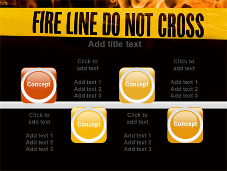 Fire Line PowerPoint Template Slide 18