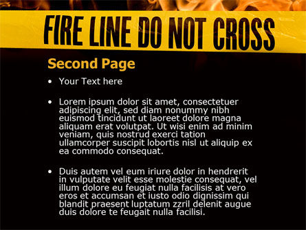 Fire Line PowerPoint Template Slide 2