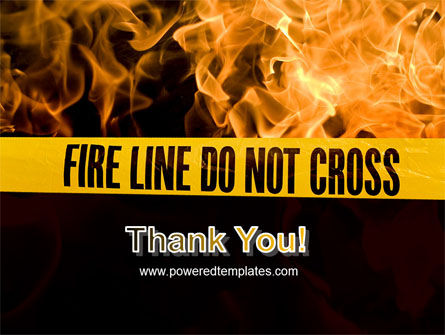 Fire Line PowerPoint Template Slide 20
