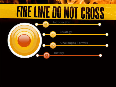 Fire Line PowerPoint Template Slide 3
