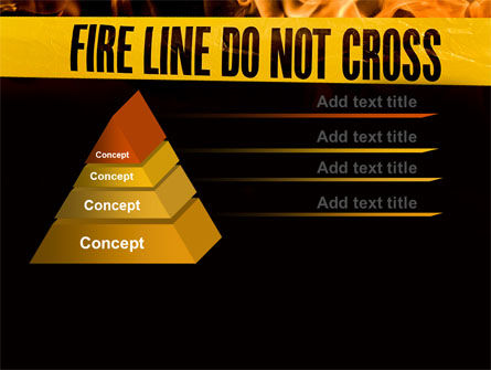 Fire Line PowerPoint Template Slide 4