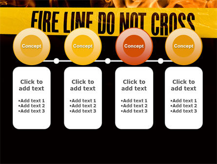 Fire Line PowerPoint Template Slide 5