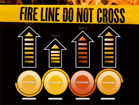 Fire Line PowerPoint Template Slide 7