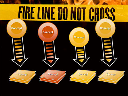 Fire Line PowerPoint Template Slide 8