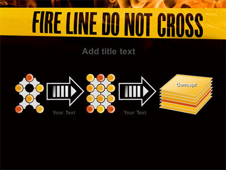 Fire Line PowerPoint Template Slide 9