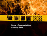 Careers/Industry: Fire Line PowerPoint Template #04736
