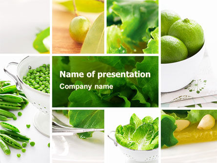 Green Salad PowerPoint Template, 04737, Food & Beverage — PoweredTemplate.com