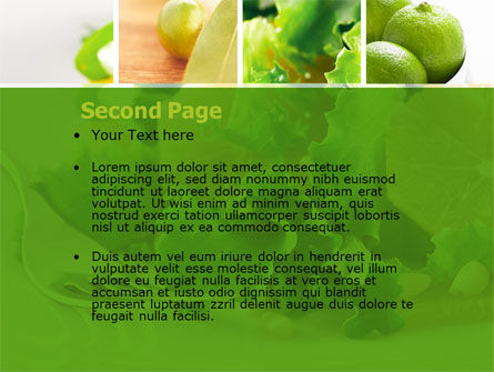 Green Salad PowerPoint Template, Slide 2, 04737, Food & Beverage — PoweredTemplate.com