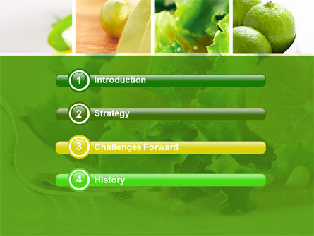 Green Salad PowerPoint Template, Slide 3, 04737, Food & Beverage — PoweredTemplate.com