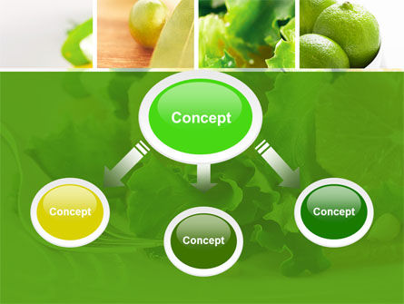 Green Salad PowerPoint Template, Slide 4, 04737, Food & Beverage — PoweredTemplate.com