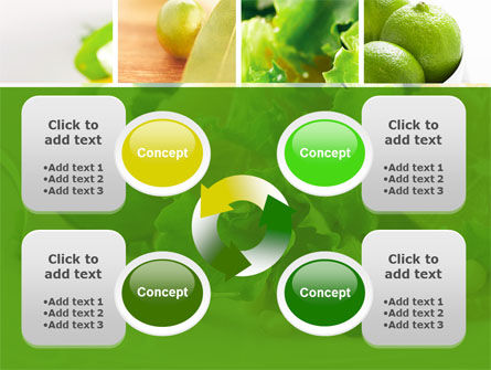 Green Salad PowerPoint Template Slide 9