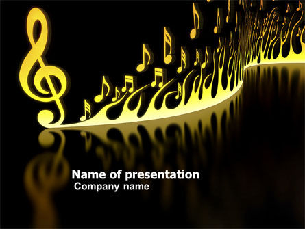 Art & Entertainment: Modern Music PowerPoint Template #04739