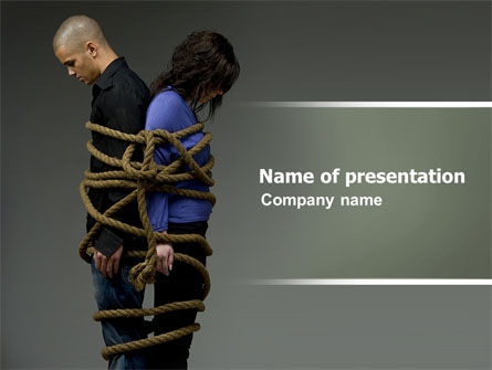 Hostage PowerPoint Template, 04740, Consulting — PoweredTemplate.com