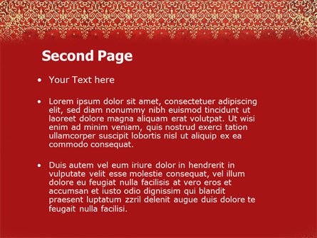 Persian Carpet PowerPoint Template Slide 2