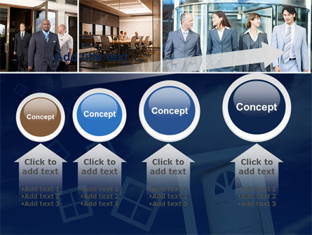 Open Doors In Collage PowerPoint Template Slide 13