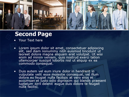Open Doors In Collage PowerPoint Template Slide 2