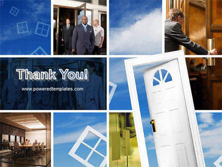 Open Doors In Collage PowerPoint Template Slide 20