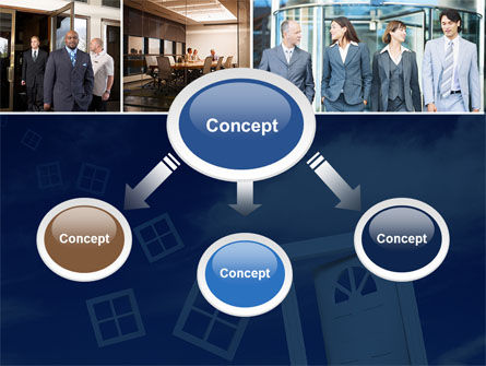 Open Doors In Collage PowerPoint Template Slide 4