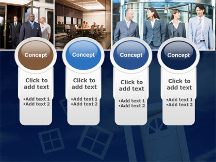 Open Doors In Collage PowerPoint Template Slide 5
