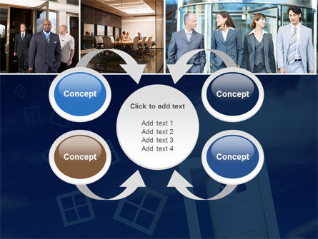 Open Doors In Collage PowerPoint Template Slide 6