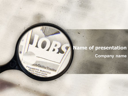 Jobs PowerPoint Template, 04745, Consulting — PoweredTemplate.com