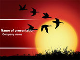 Nature & Environment: Flock PowerPoint Template #04746