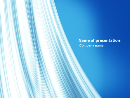 Abstract Blue Silver PowerPoint Template