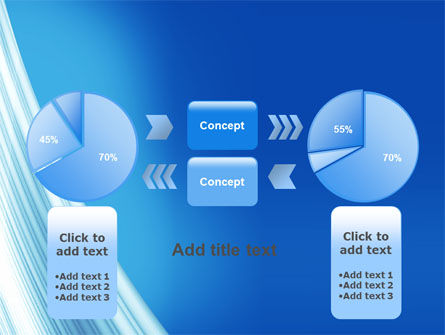 Abstract Blue Silver PowerPoint Template Slide 11