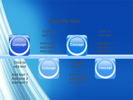 Abstract Blue Silver PowerPoint Template Slide 19