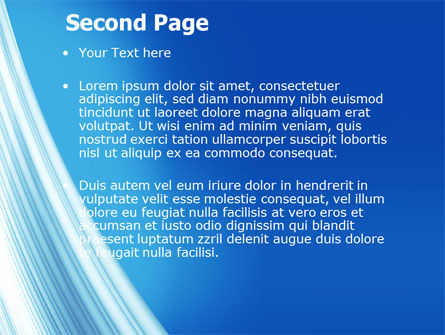 Abstract Blue Silver PowerPoint Template Slide 2