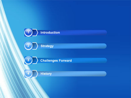 Abstract Blue Silver PowerPoint Template Slide 3