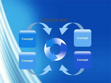 Abstract Blue Silver PowerPoint Template Slide 6