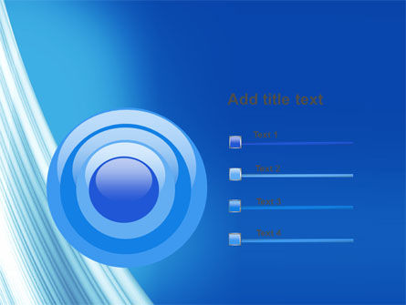 Abstract Blue Silver PowerPoint Template Slide 9