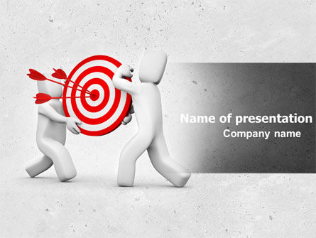 Business Concepts: Target Point PowerPoint Template #04751