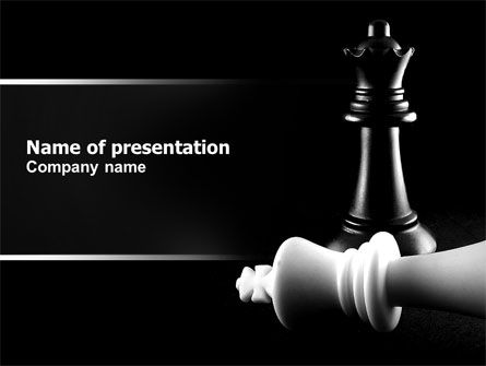 Checkmate PowerPoint Template, 04754, Sports — PoweredTemplate.com