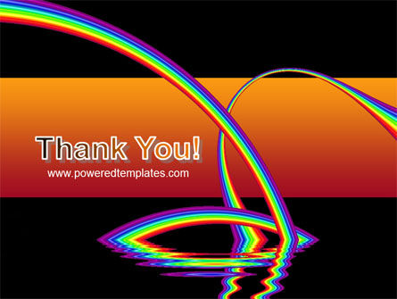 Rainbow On A Black Orange Background PowerPoint Template Slide 20