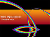Education & Training: Rainbow On A Black Orange Background PowerPoint Template #04755