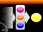 Rainbow On A Black Orange Background PowerPoint Template#11