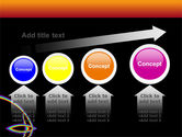 Rainbow On A Black Orange Background PowerPoint Template#13