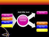 Rainbow On A Black Orange Background PowerPoint Template#14