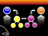 Rainbow On A Black Orange Background PowerPoint Template#19