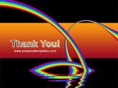 Rainbow On A Black Orange Background PowerPoint Template#20