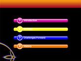 Rainbow On A Black Orange Background PowerPoint Template#3
