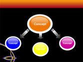 Rainbow On A Black Orange Background PowerPoint Template#4