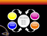 Rainbow On A Black Orange Background PowerPoint Template#6
