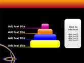 Rainbow On A Black Orange Background PowerPoint Template#8