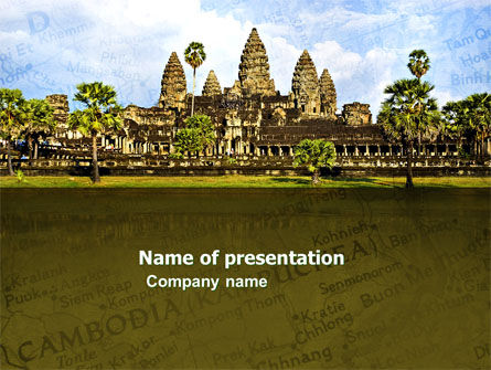 Flags/International: Cambodia PowerPoint Template #04756